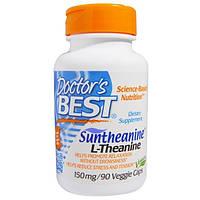 Doctors Best, Сантианин L-тианин, 150 мг, 90 капсул на растительной основе