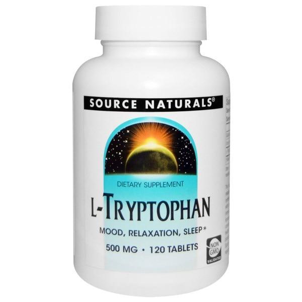 Source Naturals, L-триптофан, 500 мг, 120 таблеток