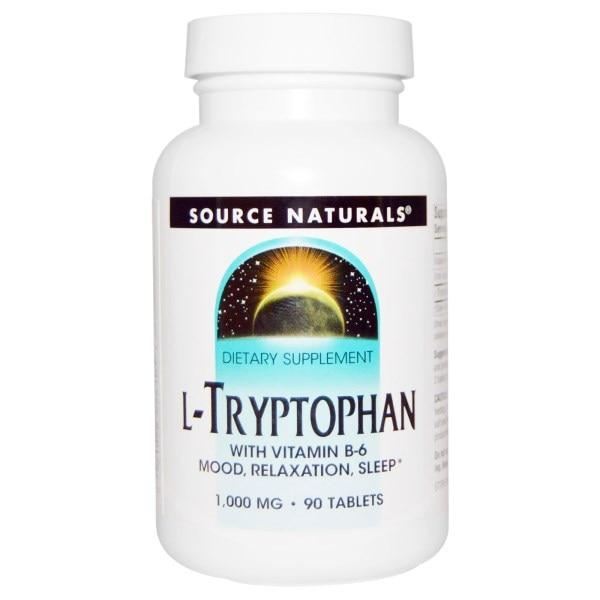 Source Naturals, L-триптофан, 1000 мг, 90 таблеток