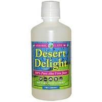Aerobic Life, Наслаждение пустыни, 100% чистый сок алоэ вера, 940 мл