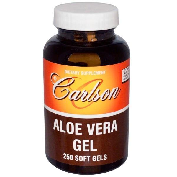 Carlson Labs, Гель Алоэ Вера, 250 гелевых капсул