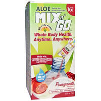 Lily of the Desert, Aloe Mix n Go, Pomegranate Flavored, 16 Packs, 0.25 oz (7 g) Each