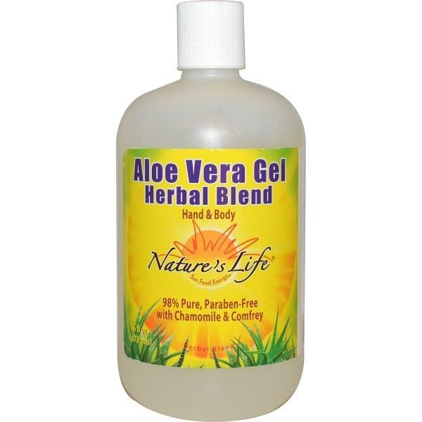 Natures Life, Гелевая травяная смесь с алоэ вера, для рук и тела, 16 жидк. унц. (473 мл)