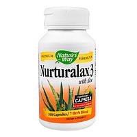 Natures Way, Пищевая добавка Nurturalax 3, с алоэ, 100 капсул