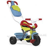 Детский металлический велосипед с багажником голубо-зеленый Smoby 740402