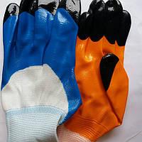Перчатка оранжевая  латекс (черный палец), фото 1