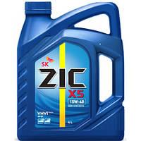 Моторное масло ZIC X5 15W - 40 4л.(Ю.Корея)