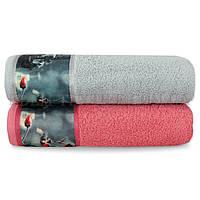 Махровое полотенце Романтика 60х130 Ретро бордюр фотопринт, 60х130