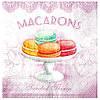 Серветка Тістечка Macaron (рожеві)