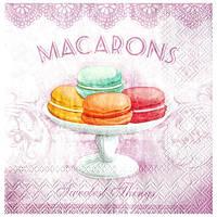 Салфетка Пироженное Macaron (розовые)
