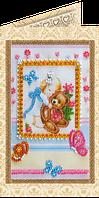 Набор для вышивки бисером открытка Любимой доченьке