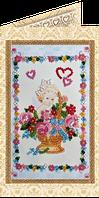 Набор для вышивки бисером открытка Маленький купидон
