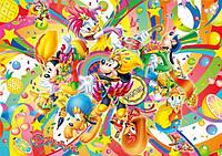 Бумажный подарочный пакет Гигант горизонтальный - Микки Маус карнавал