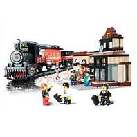 Детский конструктор «Железнодорожный вокзал» (526 деталей)