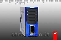 Компьютерный корпус Crown Diamond CMC-D28 чёрный с синим без БП ый