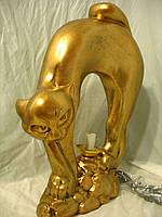 Светильник Кот Б. 52 см. бронза