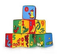 Розумна играшка, украина Набор мягких кубиков «Цифры»