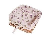 Хлебница плетеная из лозы Lilac Rose ТМ Прованс
