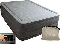 Надувная кровать (203 x 152 x 56 см) Intex 64418 (встроенный электрический насос, сумка для переноски)