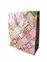 Подарочный пакет Романтические ромбики (Подарочные пакеты)