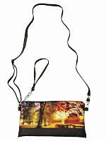 Клатч Осенняя аллея (Сумки с вышивкой)