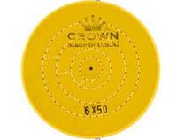 Круг муслиновый белый/ желтый d- 180 mm