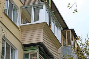 Вот так балкон выглядит с наружной стороны.