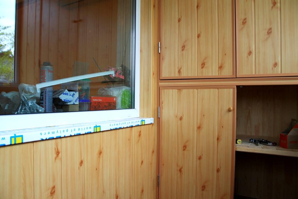 Внутренняя отделка балкона в хрущевке МДФ вагонкой 6