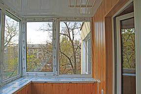 Внутренняя отделка балкона в хрущевке МДФ вагонкой 3