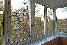 Металлопластиковые окна ALMplast, однокамерный энергосберегающий стеклопакет.