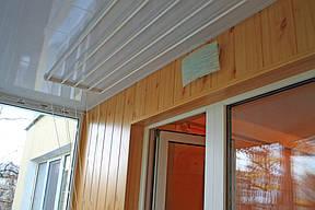Внутренняя отделка балкона в хрущевке МДФ вагонкой