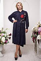 Длинное платье рубашка больших размеров 54-60