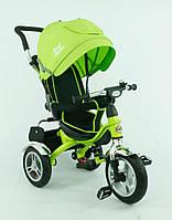 Велосипед дет. 3-х колёсный 5388 Best Trike (1) САЛАТОВЫЙ, НАДУВНЫЕ КОЛЕСА