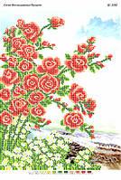 Схема для вышивания бисером - Куст роз