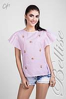 Легкая женская блуза 1328 BELLISE с рукавами-рюшами