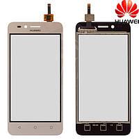 Сенсорный экран (touchscreen) для Huawei Y3 2, LTE версия, золотистый, оригинал