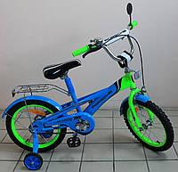 Детский двухколёсный велосипед Порше Хай Спид голубой с салатовым передом