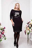 Платье - туника больших размеров 52 54 56