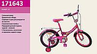 Велосипед детский двухколесный 16 дюймов со звонком и зеркалом Spring 171643