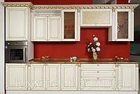 Кухни мдф ваниль патина золото классика Киев.