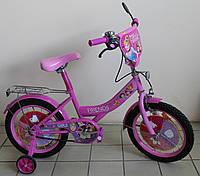 Двухколёсный велосипед Подарок друзей принцессы детский для девочки розового цвета