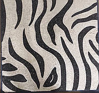 Черно-белая картина из мраморной мозаики