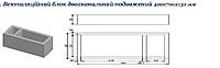 Вентиляционные 2-о канальные удлиненные блоки