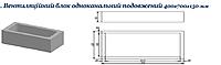 Вентиляционные 1-но канальные удлиненные блоки