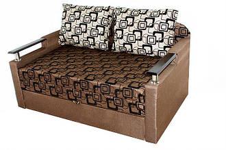 Блюз коричневый с подлокотником ткань квадрат