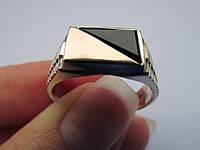 Серебряный перстень с золотыми накладками