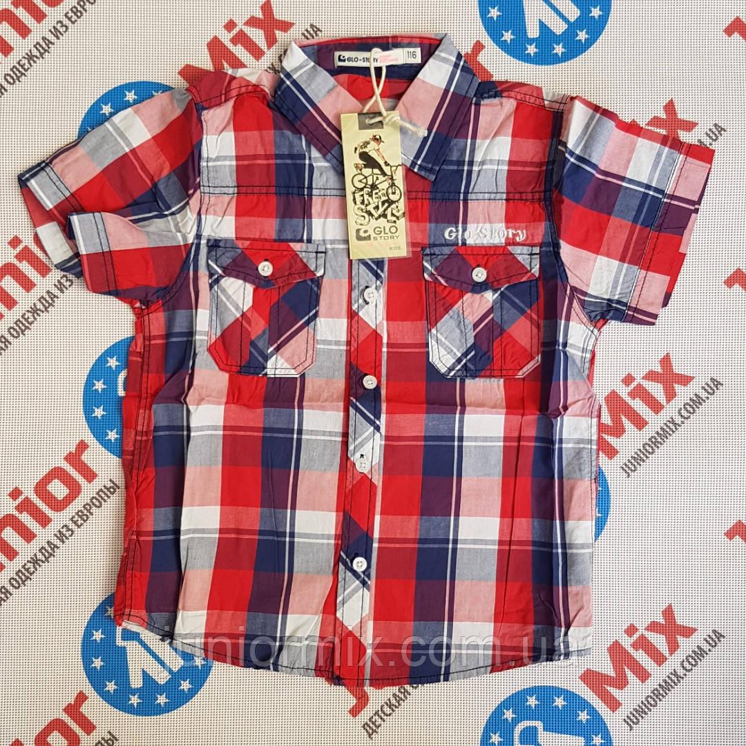 Детская котоновая рубашка в клеточку на мальчика GLO-STORY