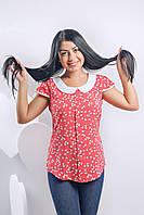 Молодежная летняя блуза из штапеля