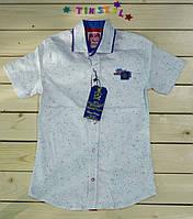 Стильная белая  рубашка ,шведка  для мальчика рост 134-170