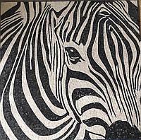 Зебра из мраморной мозаики